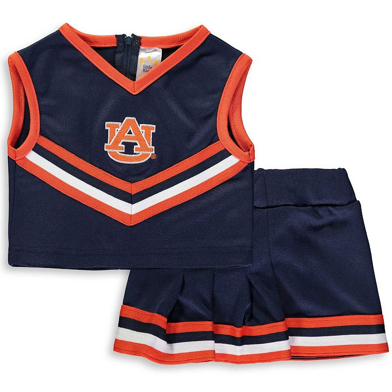 Girls Toddler Navy Auburn Tigers Two-Piece Cheer Set, Toddler Girl's, Size: 4T, Blue