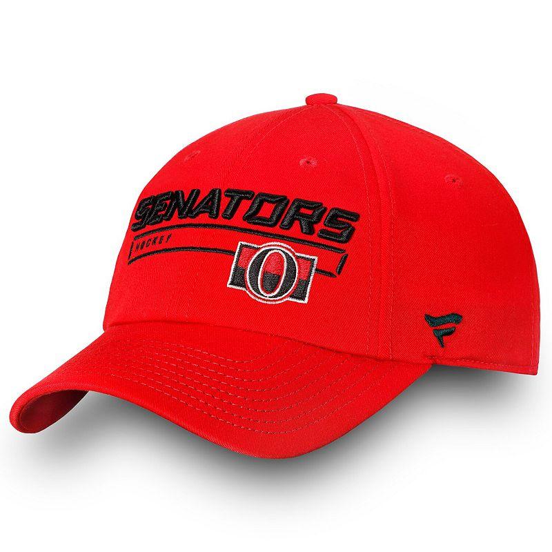 Men's Fanatics Branded Red Ottawa Senators Team Authentic Pro Rinkside Fundamental Adjustable Hat