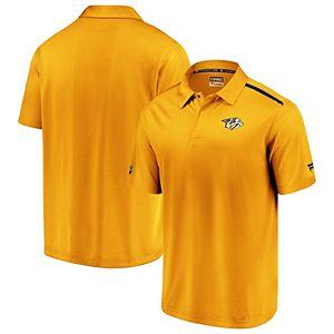 Men's Fanatics Branded Gold/Navy Nashville Predators Authentic Pro Rinkside Polo