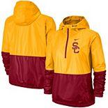 Women's Nike Gold/Cardinal USC Trojans Woven Anorak Half-Zip Pullover Jacket