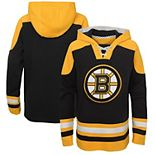 Youth Black/Gold Boston Bruins Ageless Lace-Up Pullover Hoodie