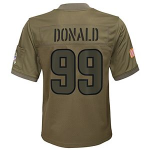 Youth Nike Aaron Donald Camo Los Angeles Rams 2019 Salute to Service Game Jersey