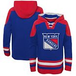 Youth Blue/Red New York Rangers Ageless Lace-Up Pullover Hoodie