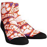 Men's Rock Em Socks Clemson Tigers Logo Sketch Quarter-Length Socks