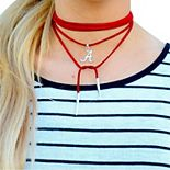 Women's Alabama Crimson Tide Suede Wrap Choker