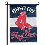 """Boston Red Sox 12.5"""" x 18"""" Vintage Linen Garden Flag"""