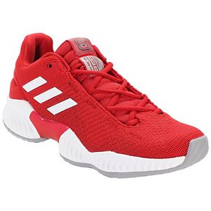 Men's adidas Red/White NC State Wolfpack Pro Bounce Low Training Sneaker