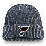 Men's Fanatics Branded Navy St. Louis Blues Authentic Pro Rinkside Cuffed Knit Hat