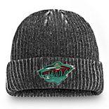 Men's Fanatics Branded Black Minnesota Wild Authentic Pro Rinkside Cuffed Knit Hat