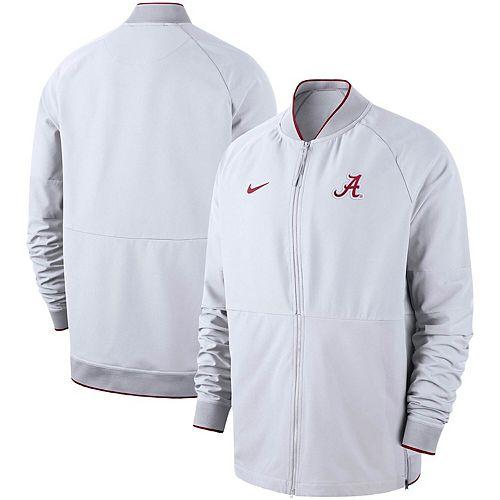 Men's Nike White Alabama Crimson Tide 2019 Sideline Performance Full-Zip Jacket