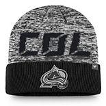 Men's Fanatics Branded Black Colorado Avalanche Authentic Pro Team Clutch Cuffed Knit Hat