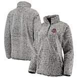 Women's Charcoal Ohio State Buckeyes Coast to Coast Sherpa Quarter-Snap Pullover Jacket