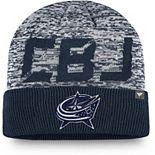 Men's Fanatics Branded Navy Columbus Blue Jackets Authentic Pro Team Clutch Cuffed Knit Hat