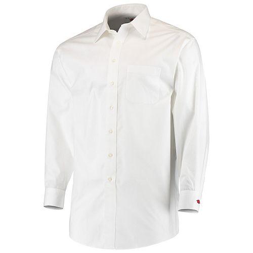 Men's White Arkansas Razorbacks Button-Down Woven Long Sleeve Dress Shirt