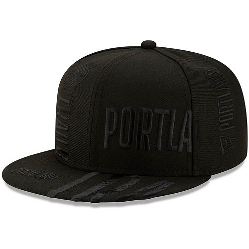Men's New Era Black Portland Trail Blazers 2019 NBA Tip-Off Series Tonal 9FIFTY Adjustable Hat