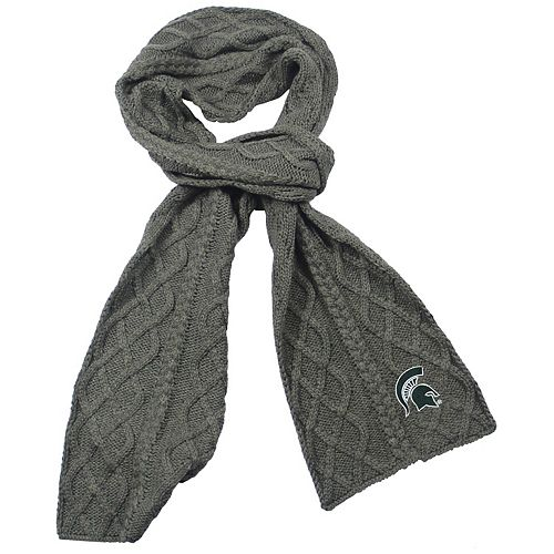 Women's ZooZatz Gray Michigan State Spartans Cable Knit Scarf