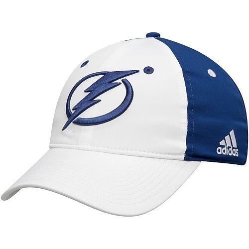 Men's adidas White/Blue Tampa Bay Lightning Sport Team Logo Slouch Flex Hat