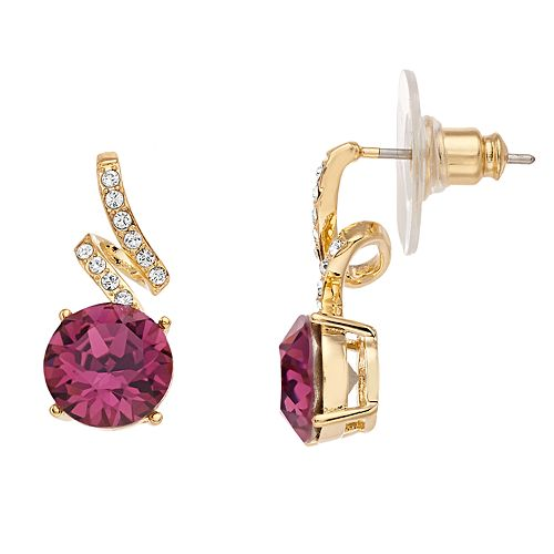 Brilliance Pave Swivel Earrings with Swarovski Crystals