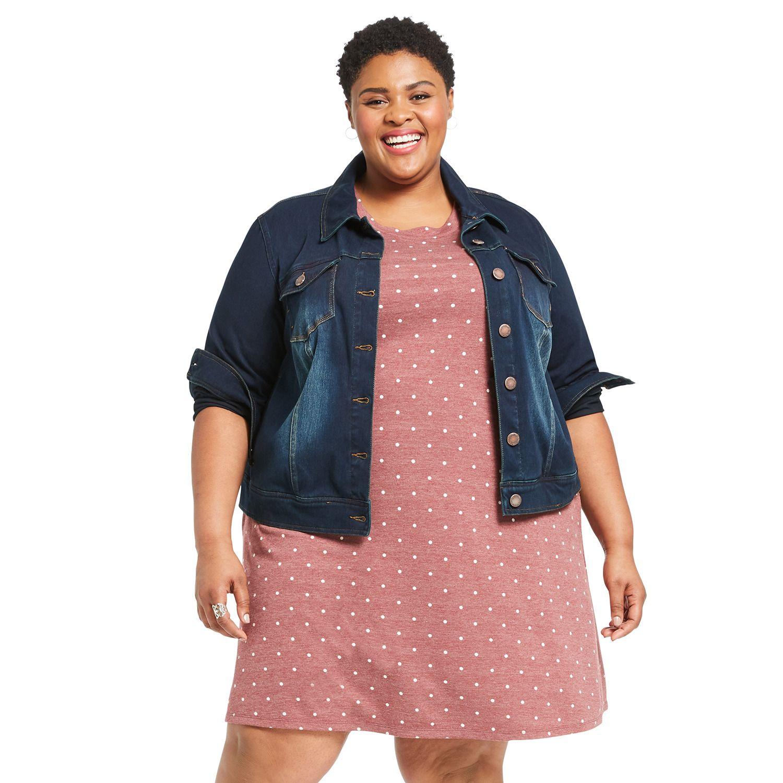 Plus Size East Adeline by Dia&Co A-line T-shirt Dress