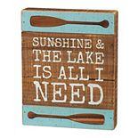 Sunshine and the Lake Box Sign Table Decor