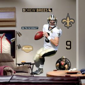 Fathead New Orleans Saints Drew Brees Wall Decal