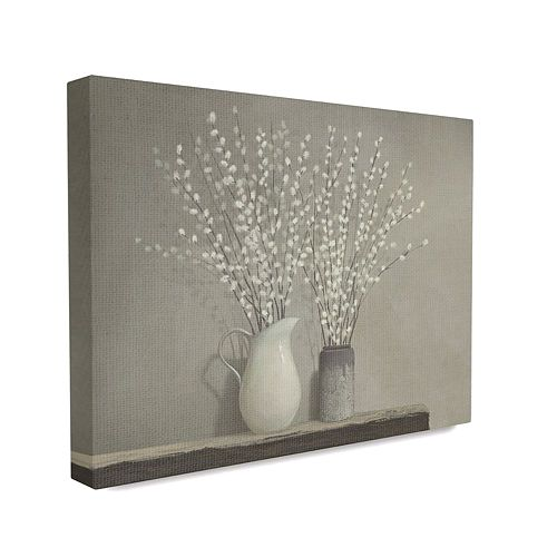 Stupell Home Decor Beautiful Willow Flower Neutral Grey Painting Wall Art by Ziwei Li