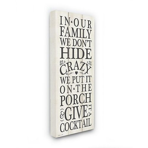 Stupell Home Decor Don't Hide Crazy Funny Country Home Wood Textured Word Design Wall Art by Stephanie Workman Marrott