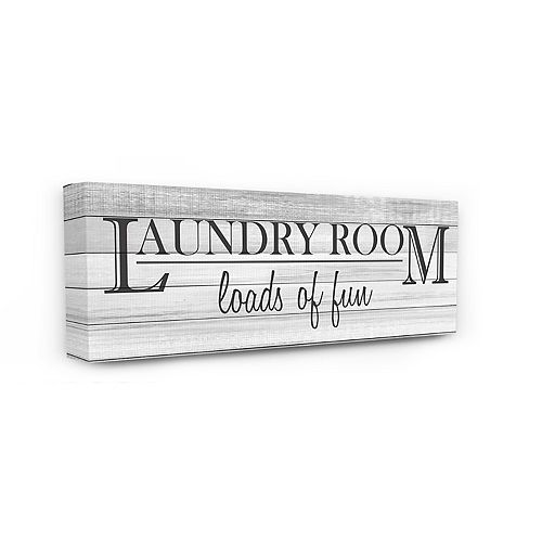 Stupell Home Decor Fun Laundry Room Funny Word Bathroom Black And White Design Wall Art by Kimberly Allen