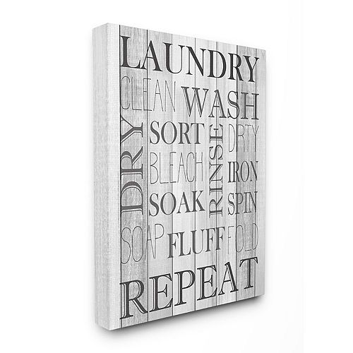 Stupell Home Decor Laundry Room Bathroom Black And White Design Wall Art by Kimberly Allen