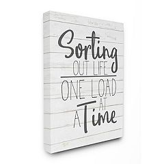 Stupell Home Decor Sorting Out Life Bathroom Laundry Black And White Design Wall Art by Kimberly Allen