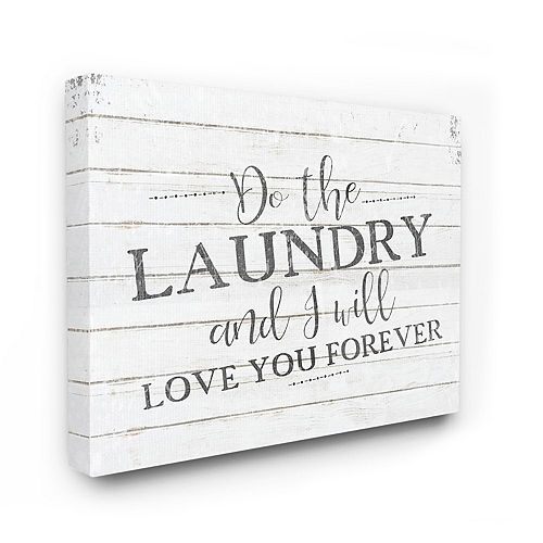 Stupell Home Decor Do The Laundry Bathroom Black And White Word Design Wall Art by Kimberly Allen