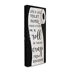 Stupell Home Decor Like Toilet Paper Funny Word Wall Art