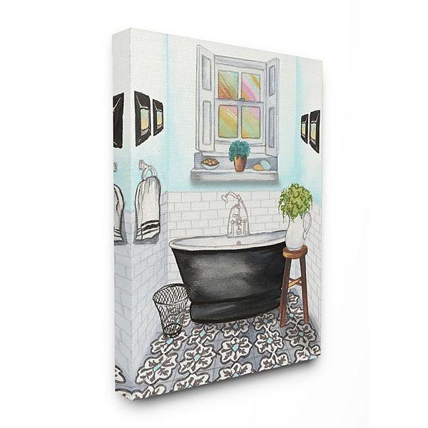 Stupell Home Decor Cute Bathroom Wall Art