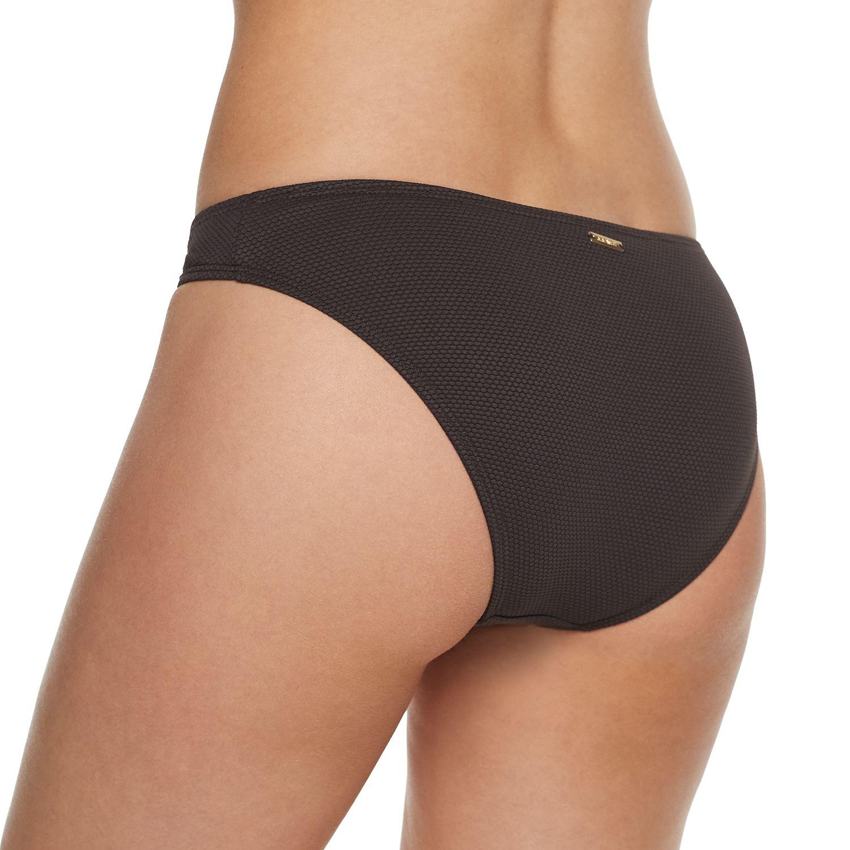 Women's Nine West Midrise Laced Front Bikini Bottoms