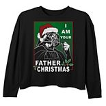 Girls Star Wars I Am Your Father Christmas Long Sleeve Tee