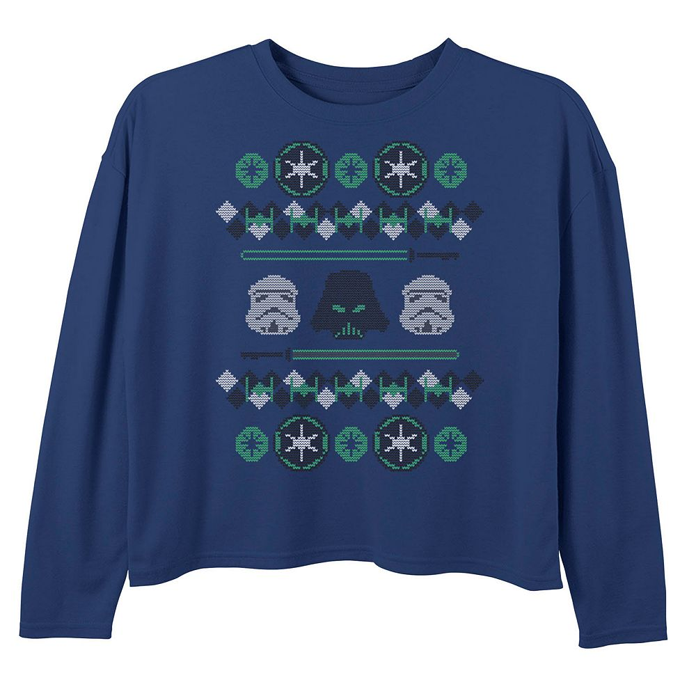 Girls 7-16 Star Wars Empire Christmas Sweater Long Sleeve Tee