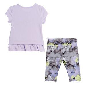 Baby Girl adidas Power Capri Tight And Tee Set