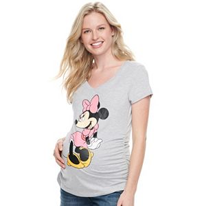 Disney's Minnie Mouse Maternity Graphic Tee by Family Fun