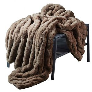 Lily NY Sculpted Knit Throw Blanket