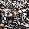 Lily NY Tiger Print Faux Fur Throw