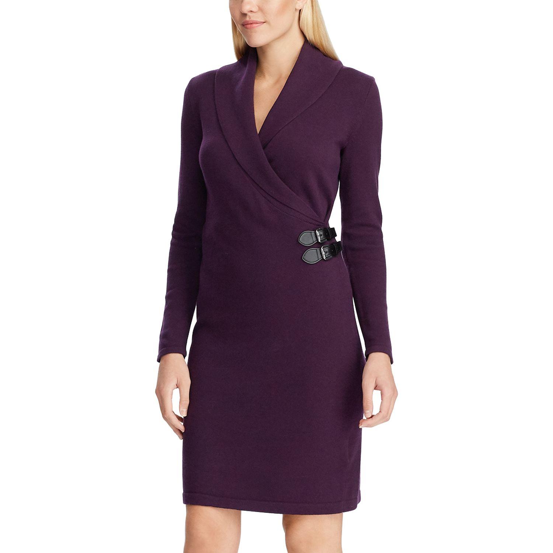 Women's Chaps Shawl Collar Faux-Wrap Dress