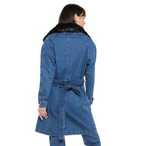 Women's Jennifer Lopez Denim Trench Coat