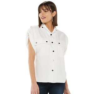 Women's Jennifer Lopez Chambray Utility Shirt