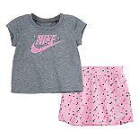 Baby Girl Nike Graphic Tee & Skort Set