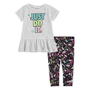 Baby Girl Under Armour Graphic Moisture Wicking Bodysuit Grid Capri Leggings Set Kohls