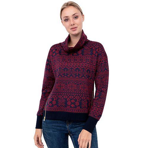 Women's IZOD Cozy Faux-Sherpa Cowlneck Sweatshirt