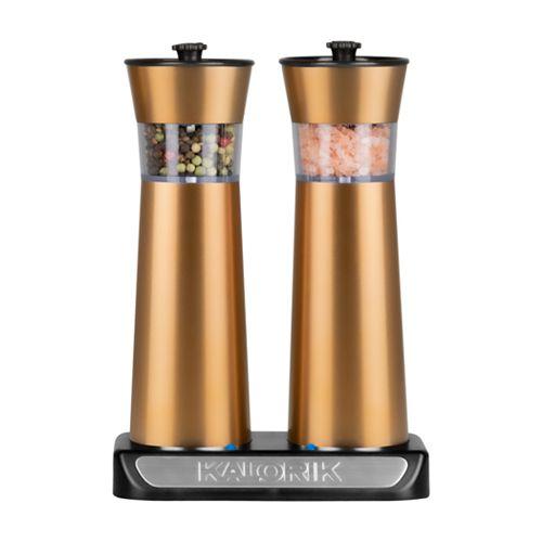 Kalorik Rechargeable Gravity Salt & Pepper Grinder Set