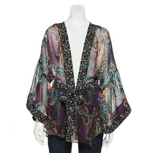Women's SO® Paisley Belted Kimono