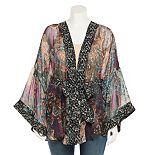 Plus Size SO® Paisley Belted Kimono