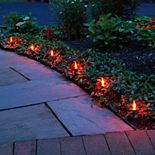 LumaBase Electric Flickering 10-Light Pathway Lights